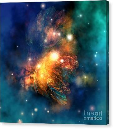Draconian Nebula Canvas Print by Corey Ford