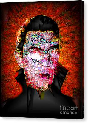 Canvas Print featuring the photograph Dracula The Vampire 20170415 by Wingsdomain Art and Photography