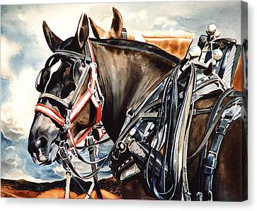 Draft Mules Canvas Print by Nadi Spencer