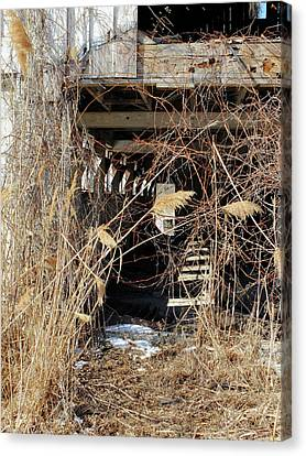 Canvas Print featuring the photograph Drafty Barn by Scott Kingery
