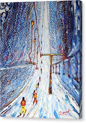 Drag Lift Four Valleys Canvas Print