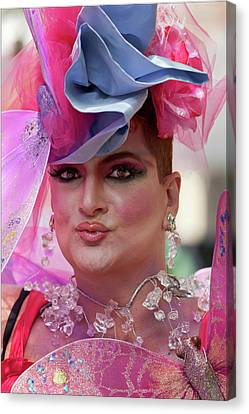 Drag Queen Gay  Pride Parade Nyc 6 27 10 Canvas Print by Robert Ullmann