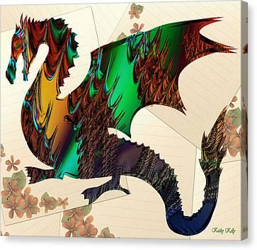 Drago Canvas Print by Kathy Kelly