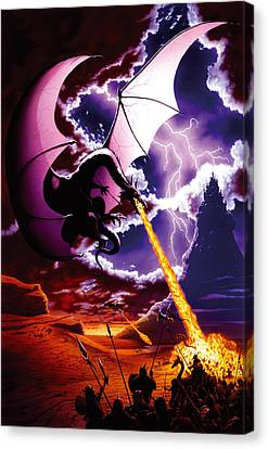 Dragon Attack Canvas Print by The Dragon Chronicles - Steve Re
