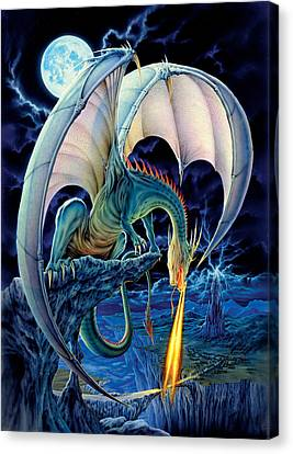 Dragon Causeway Canvas Print by The Dragon Chronicles - Robin Ko