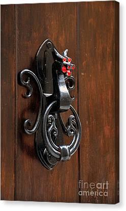 Dragon Door Knocker In Calaceite Canvas Print by RicardMN Photography