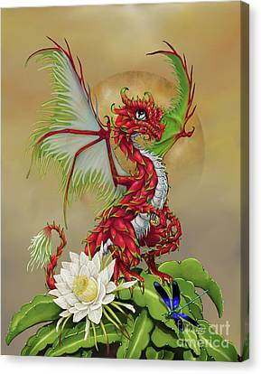 Canvas Print featuring the digital art Dragon Fruit Dragon by Stanley Morrison
