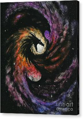 Canvas Print featuring the painting Dragon Galaxy by Stanley Morrison