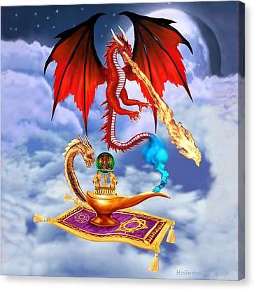 Dragon Genie Canvas Print by Glenn Holbrook