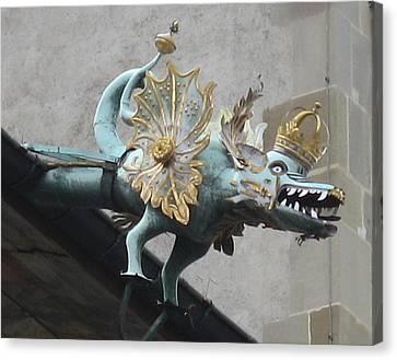 Dragon Canvas Print by James Lukashenko