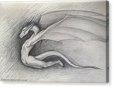 Dragon Man Canvas Print by Shaun McNicholas