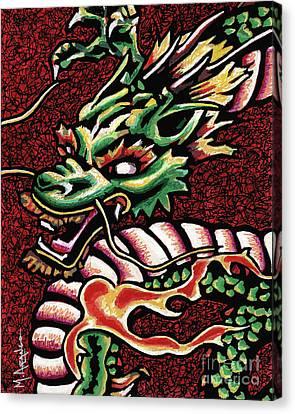 Dragon Canvas Print by Maria Arango