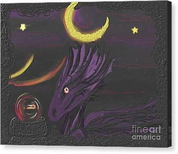 Dragon Night Canvas Print by Roxy Riou