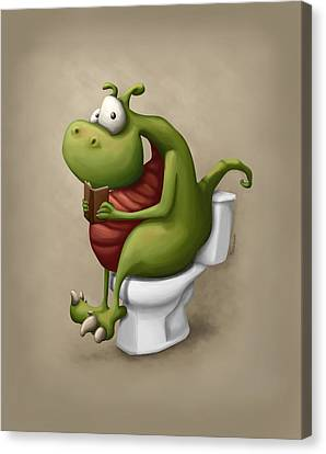 Toilet Canvas Print - Dragon Number 2 by Tooshtoosh