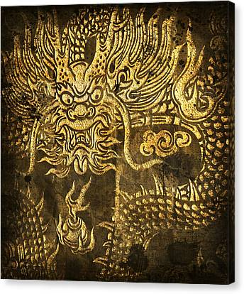 2012 Canvas Print - Dragon Pattern by Setsiri Silapasuwanchai