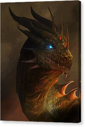 Scales Canvas Print - Dragon Portrait by Steve Goad