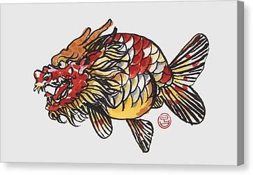 Dragon Ranchu Canvas Print by Shih Chang Yang