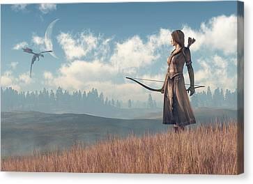 Dragon Sighting Canvas Print