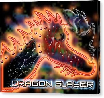 Dragon Slayer Canvas Print by Cheri Doyle