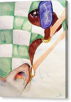 Dragon Slayer Canvas Print by Loretta Nash