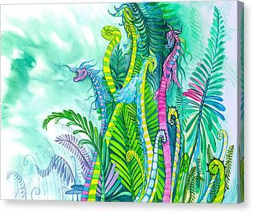 Dragon Sprouts Canvas Print