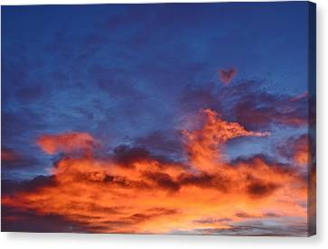 Canvas Print featuring the photograph Dragon Sunrise by Diane Alexander