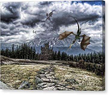 Dragon Trail. Canvas Print by Anastasia Michaels