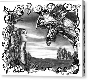 Dragon Whisperer  Canvas Print by Peter Piatt