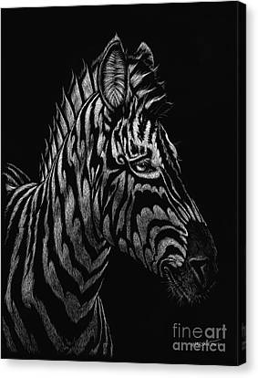 Canvas Print featuring the painting Dragon Zebra by Stanley Morrison