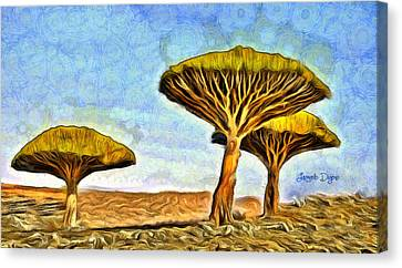 Dragonblood Trees Canvas Print