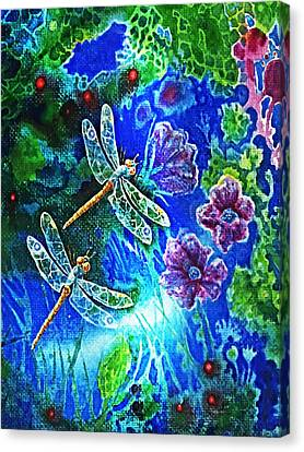 Dragonflies Canvas Print by Hartmut Jager