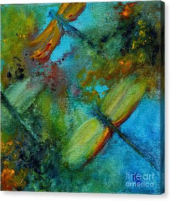 Dragonflies Canvas Print by Karen Fleschler