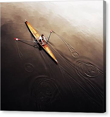 Sports Canvas Print - Dragonfly by Fulvio Pellegrini