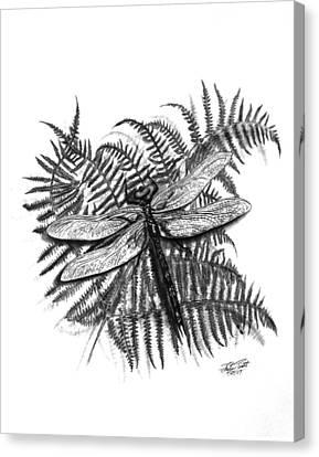 Dragonfly Canvas Print by Peter Piatt