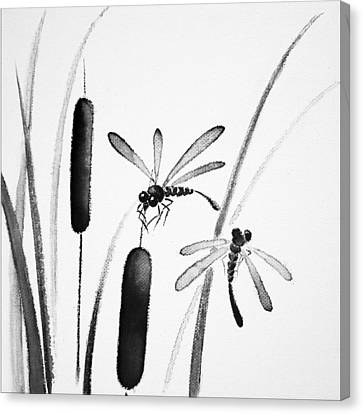 Dragonfly Serenity Canvas Print by Oiyee At Oystudio