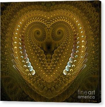 Dragonheart Canvas Print by Sandra Bauser Digital Art