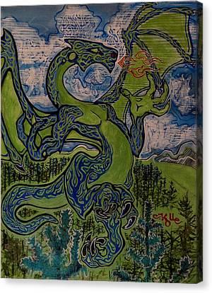 Dragonosity Canvas Print by Christian Kolle