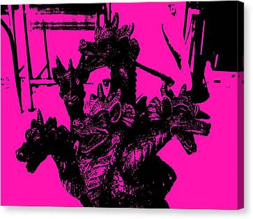Dragons On Thehunt Canvas Print