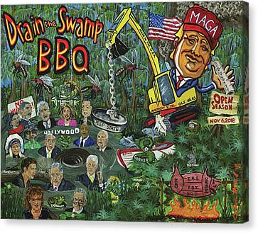 Drain The Swamp Canvas Print
