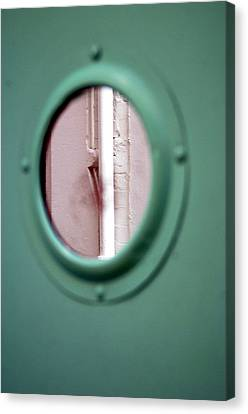 Canvas Print featuring the photograph Drained Door by Jez C Self