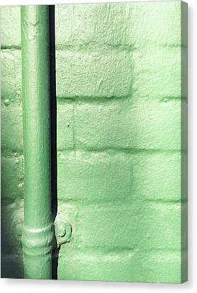 Drain Canvas Print - Drainpipe On A Wall by Tom Gowanlock