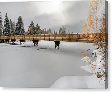 Drake Park Foot Bridge Bend Oregon Canvas Print