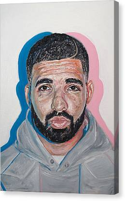Drake Canvas Print by Steph Maiden