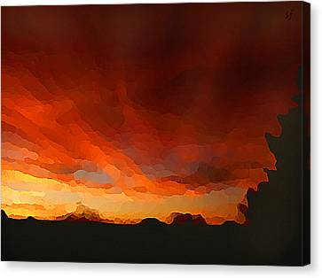 Drama At Sunrise Canvas Print