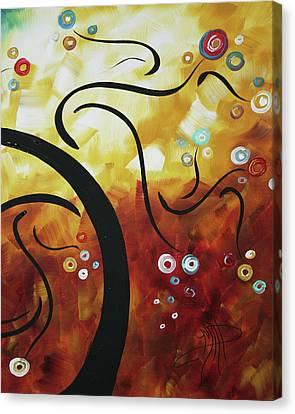 Drama Unleashed 1 Canvas Print by Megan Duncanson