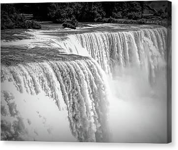 Dramatic Black And White Niagara Falls 2 Canvas Print by Aimee L Maher Photography and Art Visit ALMGallerydotcom