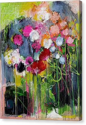 Dramatic Blooms Canvas Print by Nicole Slater