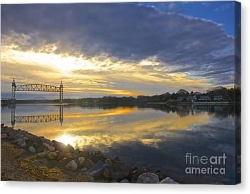 Dramatic Cape Cod Canal Sunrise Canvas Print