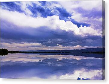 Dramatic Clouds Of A Coming Storm Canvas Print by Daphne Sampson
