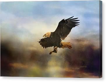 Eagle In Flight Canvas Print - Dramatic Entrance by Jai Johnson